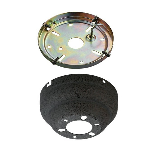 Monte Carlo Fans Ceiling Adaptor in Weathered Iron Finish MC90WI