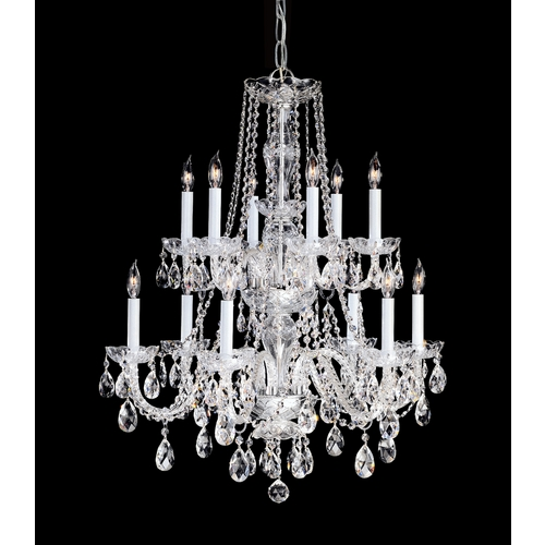 Crystorama Lighting Crystal Chandelier in Polished Chrome Finish 1137-CH-CL-MWP