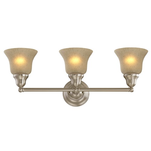 Design Classics Lighting Three-Light Sconce with Amber Glass 773-09 G9999 KIT