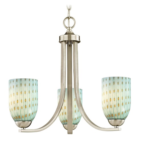 Design Classics Lighting Design Classics Dalton Fuse Satin Nickel Mini-Chandelier 5843-09 GL1003D