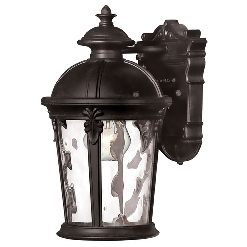 Hinkley Lighting Outdoor Wall Light with Clear Glass in Black Finish 1890BK