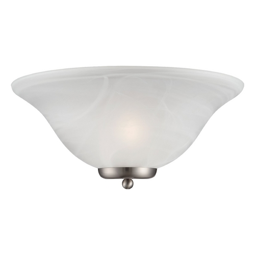 Nuvo Lighting Sconce Wall Light with White Glass in Brushed Nickel Finish 60/5381