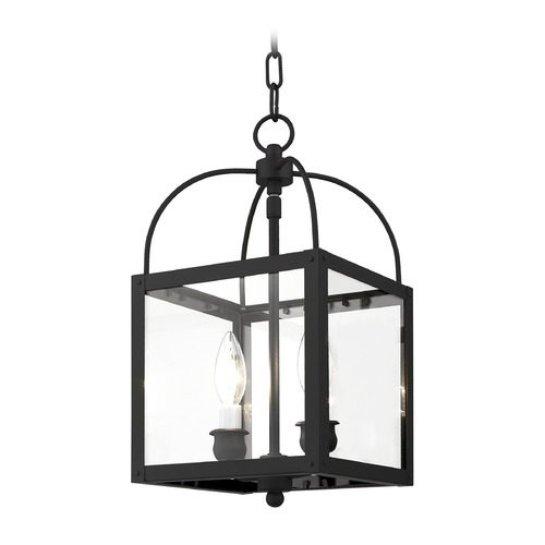 Livex Lighting Livex Lighting Milford Black Mini-Pendant Light with Square Shade 4041-04