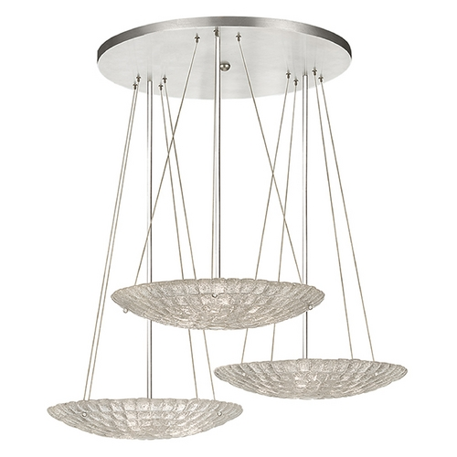 Fine Art Lamps Fine Art Lamps Constructivism Hand-Applied Silver Pendant Light 848440ST