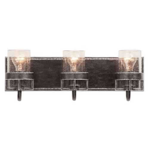 Kalco Lighting Seeded Glass Bathroom Light Iron Kalco Lighting 2893VI