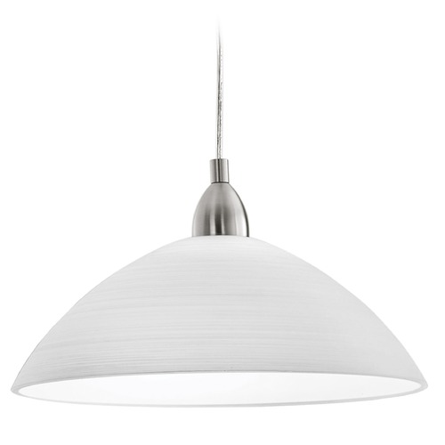 Eglo Lighting Eglo Lord 3 Matte Nickel Pendant Light with Bowl / Dome Shade 88491A