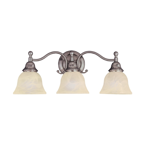 Maxim Lighting Bathroom Light with Beige / Cream Glass in Satin Nickel Finish 11058SVSN