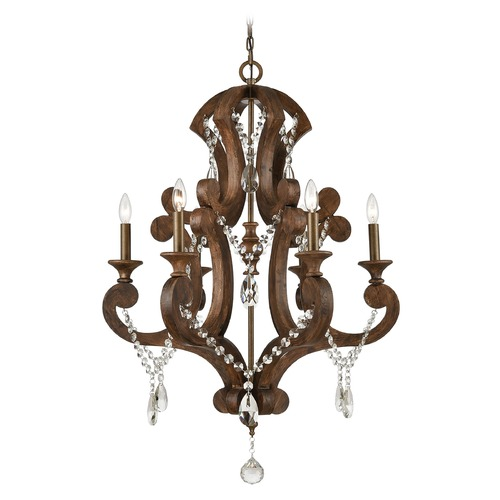 Elk Lighting Elk Lighting San Sebastian Spanish Antiquewood, Dark Bronze Chandelier 12256/6