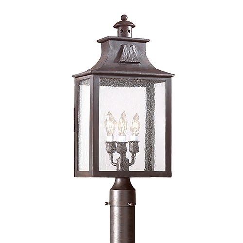 Troy Lighting Post Light with Clear Glass in Old Bronze Finish PCD9006OBZ