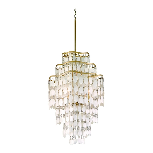 Corbett Lighting Corbett Lighting Dolce Champagne Leaf Island Light 109-47