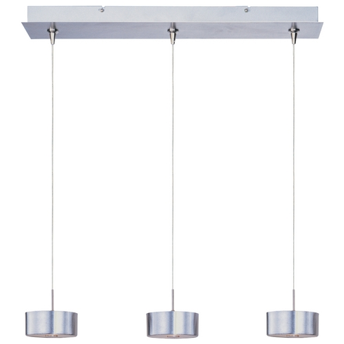 ET2 Lighting Modern Low Voltage Multi-Pendant Light in Satin Nickel Finish E94808-09SN