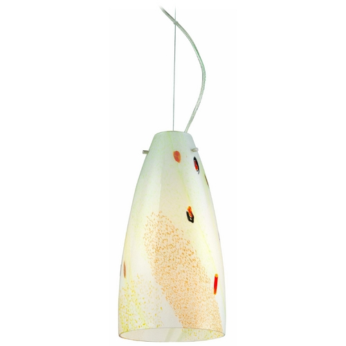 Lite Source Lighting Modern Mini-Pendant Light with Multi-Color Glass LS-19723