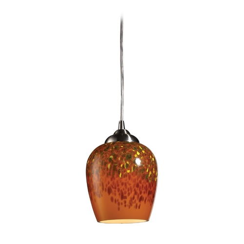 Elk Lighting Modern Mini-Pendant Light with Brown Glass 10145/1AUT