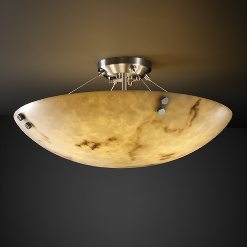 Justice Design Group Justice Design Group Lumenaria Collection Semi-Flushmount Light FAL-9654-35-NCKL-F1