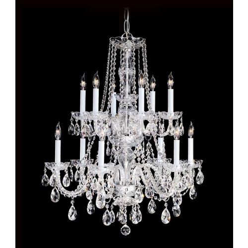 Crystorama Lighting Crystal Chandelier in Polished Chrome Finish 1137-CH-CL-S