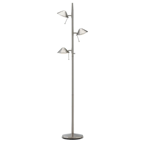 LEDs by ZEPPELIN Satin Nickel Adjustable LED Tree Floor Lamp JF-995 SN