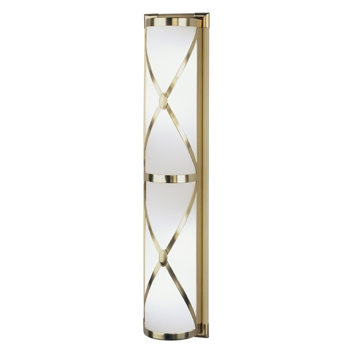 Robert Abbey Lighting Robert Abbey 1987 Chase Natural Brass Bathroom Light - Vertical Mounting Only 1987
