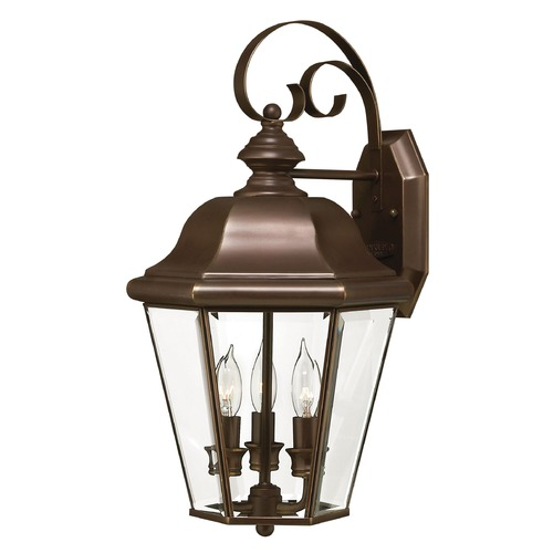 Hinkley Outdoor Wall Light with Clear Glass in Copper Bronze Finish 2424CB