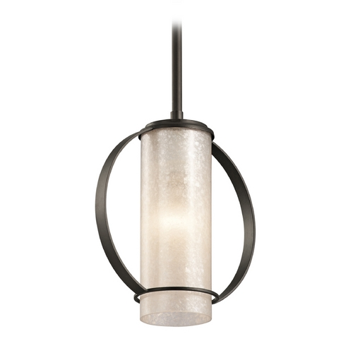 Kichler Lighting Kichler Lighting Berra Olde Bronze Mini-Pendant Light with Cylindrical Shade 43320OZ