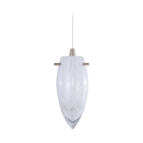 ET2 Lighting Minx Satin Nickel Mini-Pendant Light with Bowl / Dome Shade E94341-113SN