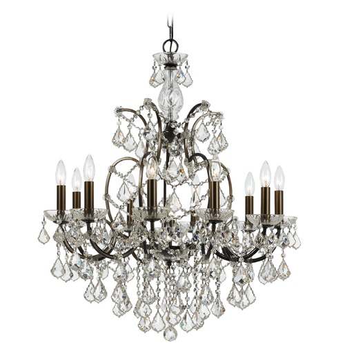 Crystorama Lighting Crystorama Lighting Filmore Vibrant Bronze Crystal Chandelier 4458-VZ-CL-SAQ