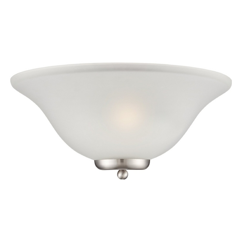 Nuvo Lighting Sconce Wall Light with White Glass in Brushed Nickel Finish 60/5382