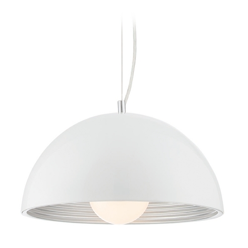 Lite Source Lighting Lite Source Lighting Darielle Chrome with White Shade Pendant Light LS-19747WHT