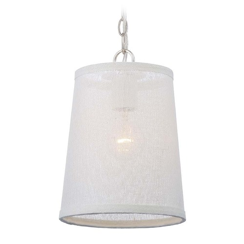 Crystorama Lighting Crystorama Lighting Culver Polished Nickel Mini-Pendant Light with Empire Shade 2290-PN