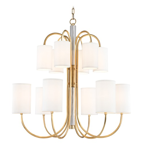 Hudson Valley Lighting Hudson Valley Lighting Junius Aged Brass Chandelier 9112-AGB