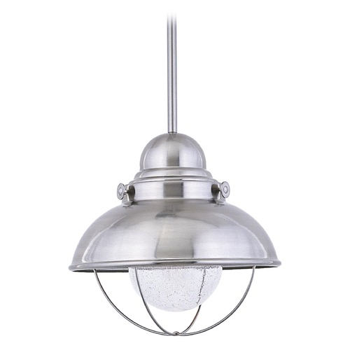 Sea Gull Lighting Sea Gull Lighting Sebring Brushed Stainless LED Outdoor Hanging Light 665893S-98