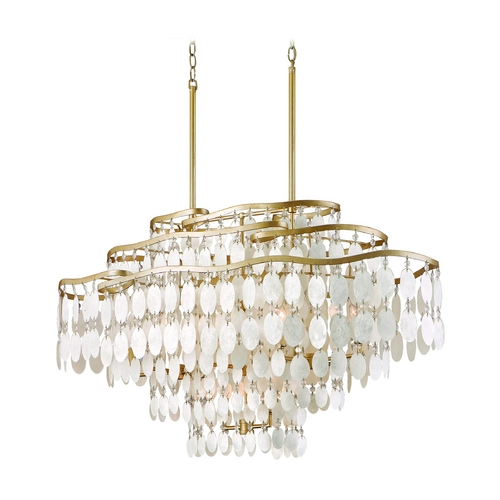 Corbett Lighting Corbett Lighting Dolce Champagne Leaf Island Light 109-512