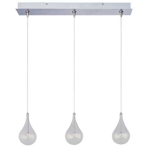 ET2 Lighting Modern Low Voltage Multi-Light Pendant Light with Clear Glass and 3-Lights E94810-18SN