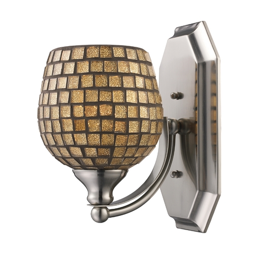 Elk Lighting Sconce with Art Glass in Polished Chrome Finish 570-1C-GLD