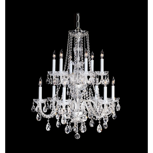 Crystorama Lighting Crystal Chandelier in Polished Chrome Finish 1137-CH-CL-SAQ