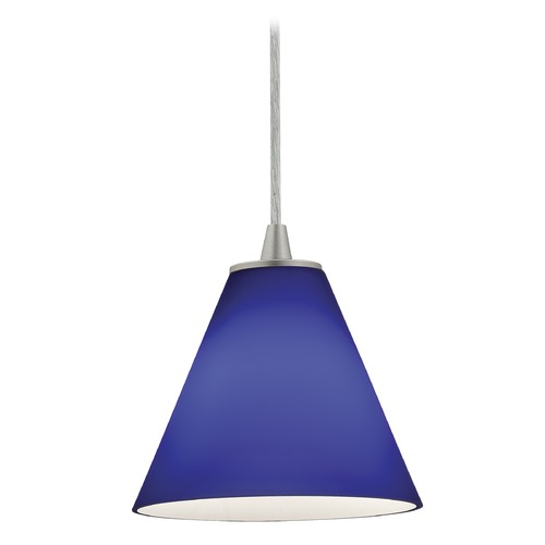 Access Lighting Access Lighting Sydney Inari Silk Brushed Steel Mini-Pendant with Conical Shade 28004-1C-BS/COB