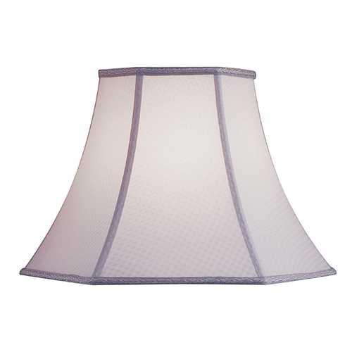Design Classics Lighting Cream Checker Hexagon Lamp Shade with Spider Assembly SH9057
