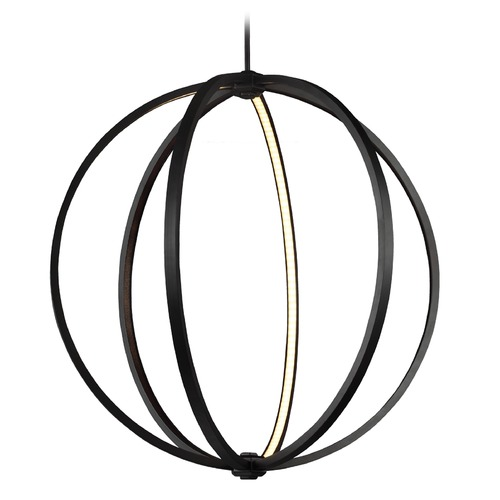 Feiss Lighting Nomi Bronze LED Large Pendant P1393ORB