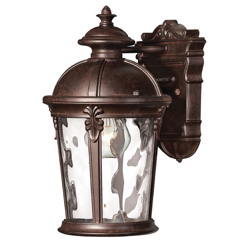 Hinkley Lighting LED Outdoor Wall Light with Clear Glass in River Rock Finish 1890RK-LED