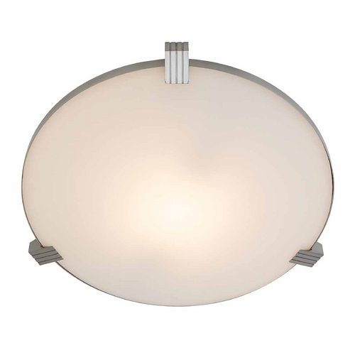 Access Lighting Access Lighting Luna Brushed Steel Flushmount Light C50069BSWHTEN1213BQ