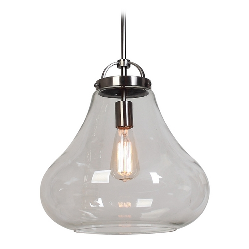 Access Lighting Access Lighting Flux Antique Nickel Pendant Light 55546-ANCK/CLR