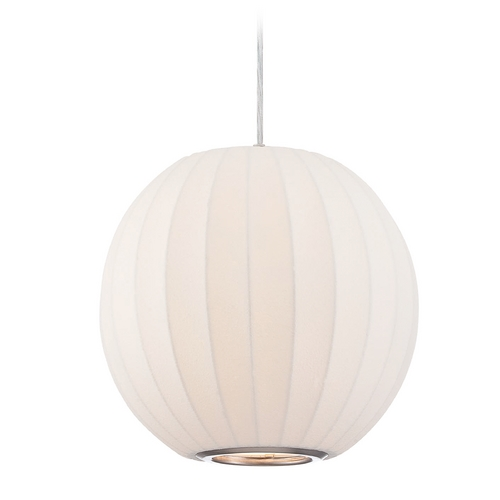 Lite Source Lighting Lite Source Lighting Masumi Pendant Light with Globe Shade LS-19823WHT