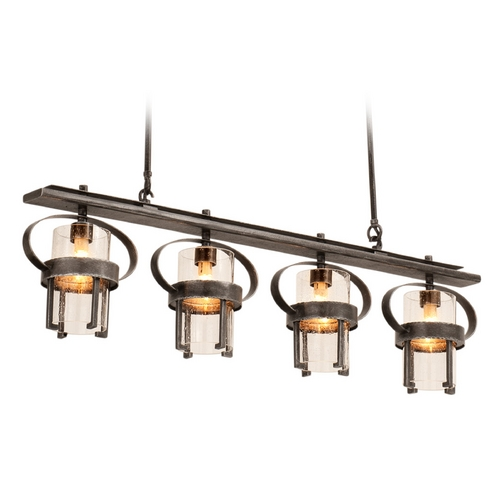 Kalco Lighting Kalco Lighting Bexley Vintage Iron Island Light with Cylindrical Shade 2895VI