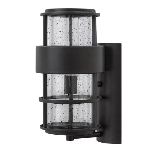 Hinkley Lighting Hinkley Lighting Saturn Satin Black Outdoor Wall Light 1904SK