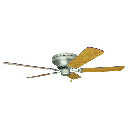 Craftmade Lighting Craftmade Lighting Pro Contemporary Flushmount Brushed Satin Nickel Ceiling Fan Without Light K10313