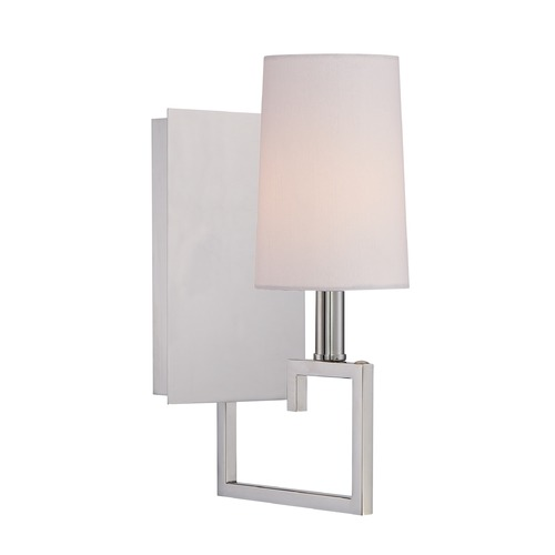 Crystorama Lighting Crystorama Lighting Westwood Polished Nickel Sconce 2251-PN