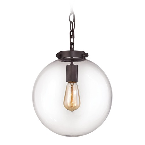 Elk Lighting Elk Lighting Gramercy Oil Rubbed Bronze Pendant Light with Globe Shade 16371/1