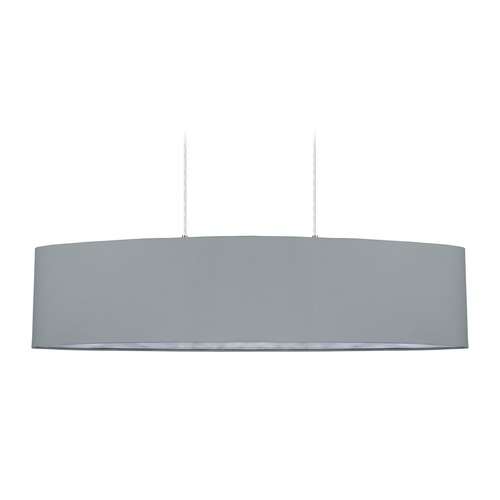 Eglo Lighting Eglo Maserlo Satin Nickel Pendant Light with Oval Shade 31617A