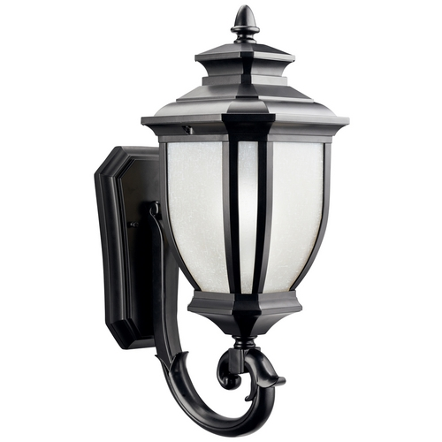 Kichler Lighting Kichler Outdoor Wall Light with White Glass in Black Finish 9041BK