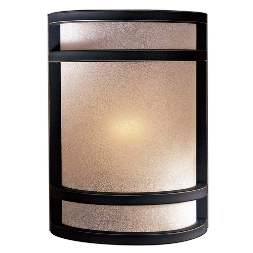 Minka Lavery Modern Sconce Wall Light with White Glass in Dark Restoration Bronze Finish 348-37B