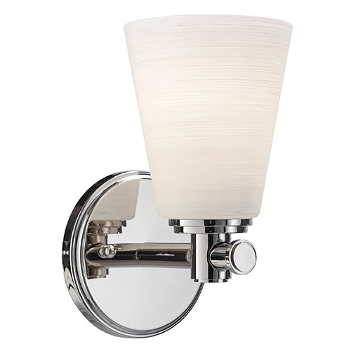 Hudson Valley Lighting Modern Sconce with White Glass in Polished Nickel Finish 1841-PN